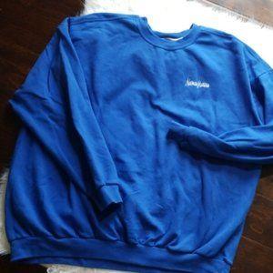 Neiman Marcus Retro blue comfy logo sweater